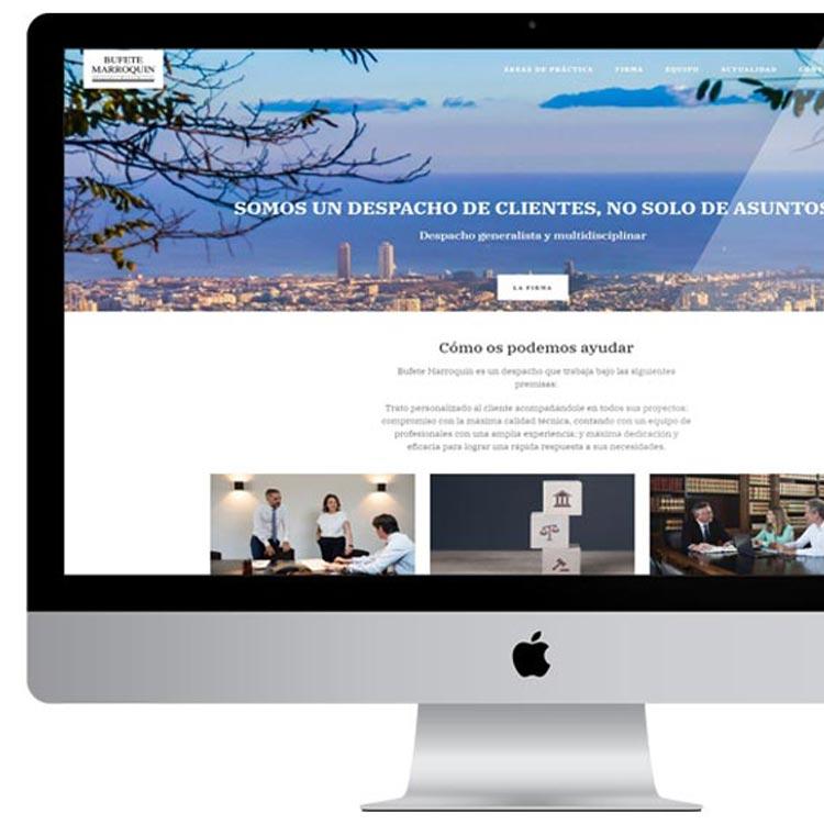 Comunicación estratégica y marketing online - Bufete Marroquín