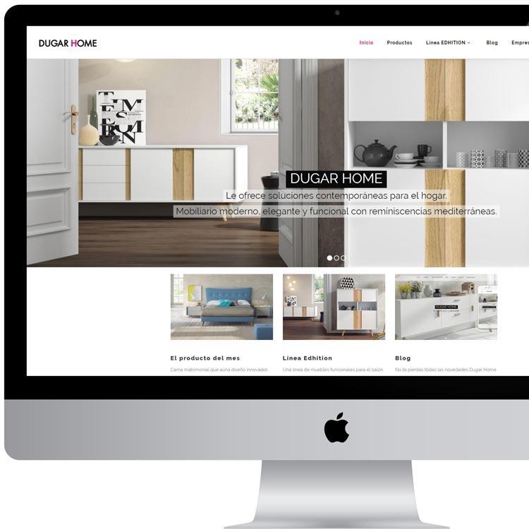 Marketing digital. Nueva web corporativa - Dugar Home